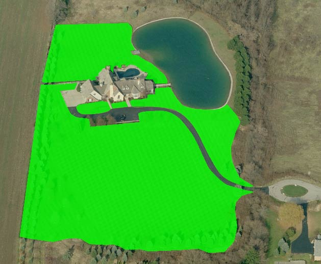 large residential lot fertilization pricing